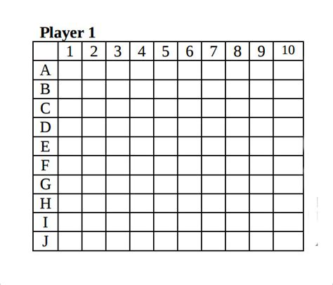 Battleship Template Sle Battleship Game 8 Documents In Pdf