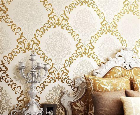 luxury flocking textured wallpaper modern wall paper roll new 2014 luxury modern victorian damask flocked velvet