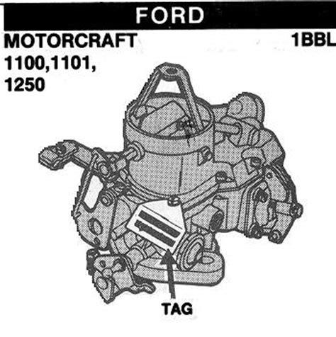 motorcraft autolite 1100 1101 1250