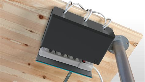 keep cables on desk great way to keep cables from messing up your dorm