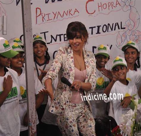 priyanka chopra dancing with the stars priyanka chopra visits ngo on international girl child day