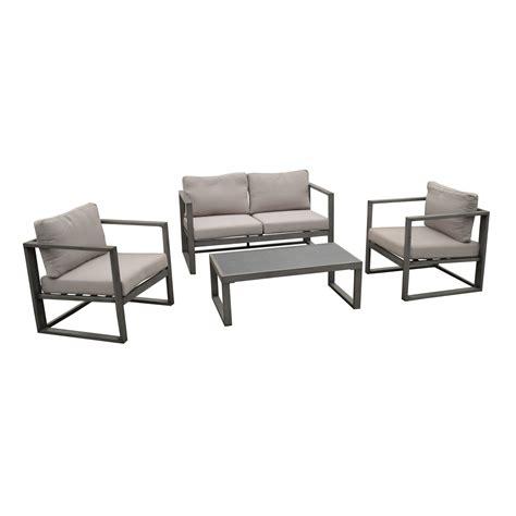 salon de jardin aluminium leroy merlin 4298 salon bas de jardin antibes aluminium gris 4 personnes