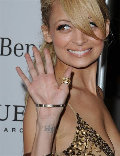nicole richie tattoos richie wrist tatoo quot quot tattoos