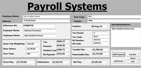 Payroll System Template How To Create Payroll Systems In Excel Using Vba Full Tutorial Youtube