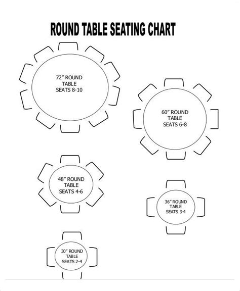 round table seating capacity round table seating capacity 42 round table seats how