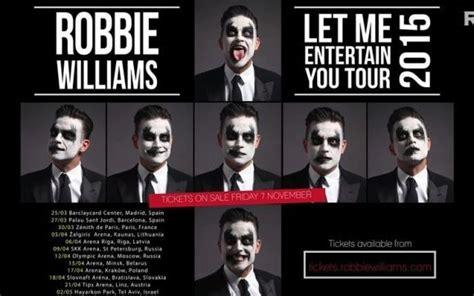 Calendario Robbie Williams 2015 Robbie Williams Annuncia Nuovi Concerti In Europa Per Il 2015