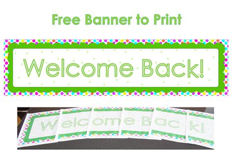 printable banner welcome the gallery for gt welcome back banner