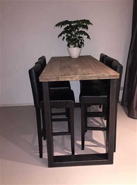 hoge eettafel hout bartafel met stoelen msnoel