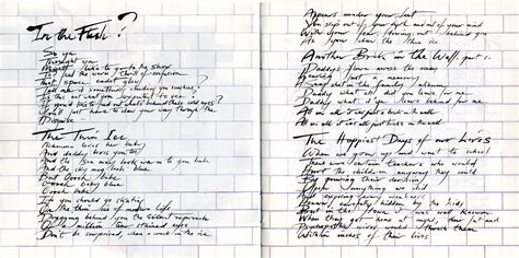 testo the wall pink floyd the wall book p 2 the wall