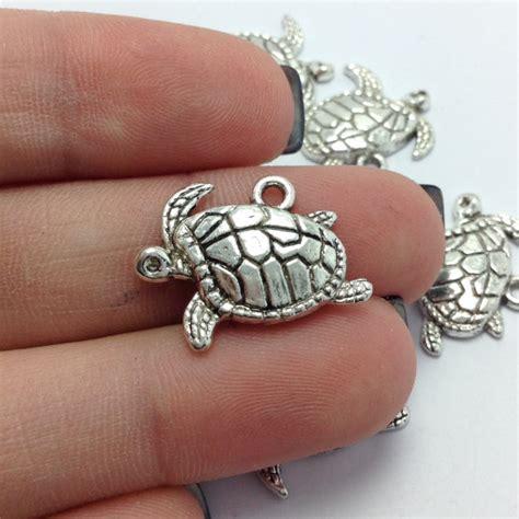 Popits Charm Sea Turtle 10 sea turtle charms silver turtle charms nautical charms charms 1 1152 from