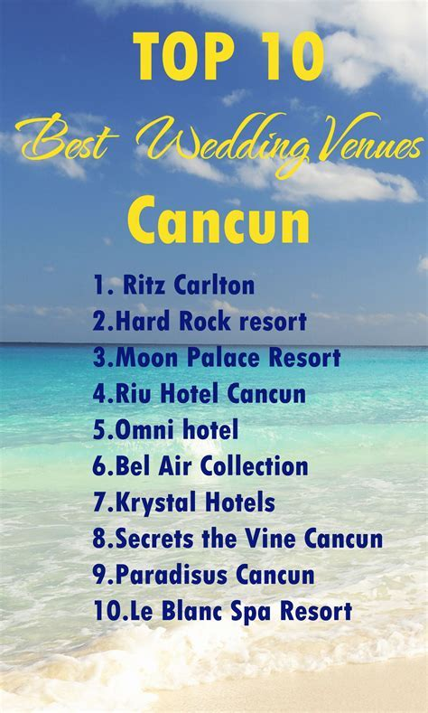 Cancun wedding venues. Find out the best wedding venue in