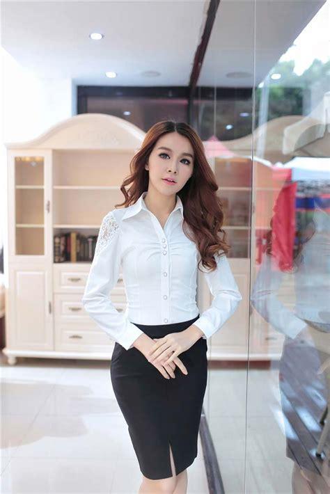 kemeja wanita lengan panjang putih model terbaru jual murah import kerja