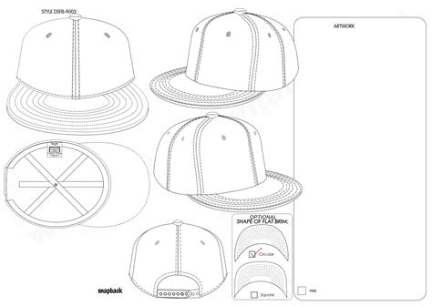 Custom Make Flat Brim Hats Snapback Hats And Fitted Caps 3d Embroidered With Customised Logo Snapback Design Template
