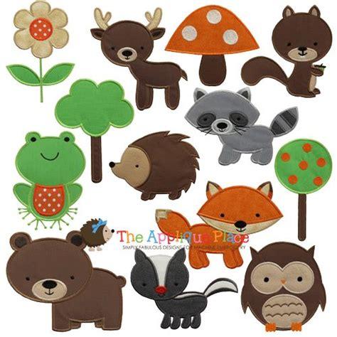pattern for felt woodland animals woodland animals set of 13 brown bear deer forest tree
