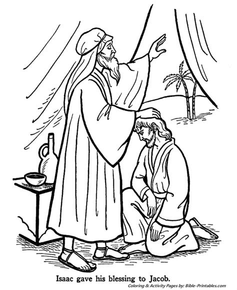Jacob Old Testament Coloring Pages Bible Printables