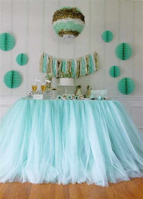 Tulle Skirt Rok Tulle Warna jual hiasan pinggir taplak meja tutu table skirt