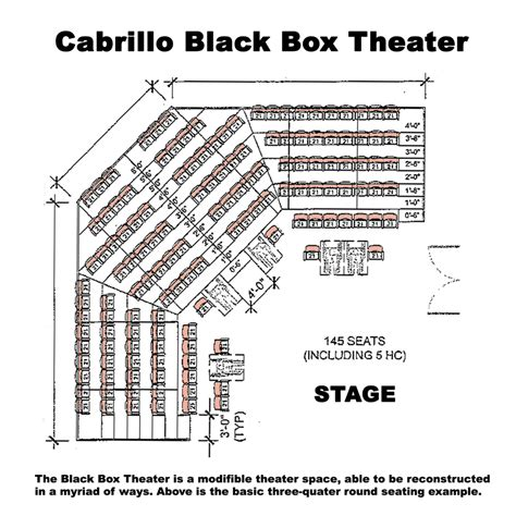boxed layout meaning venue seating charts visual and performing arts complex