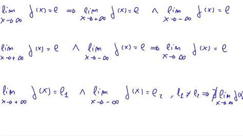 limite tende a infinito osservazioni sul limite finito di una funzione per x