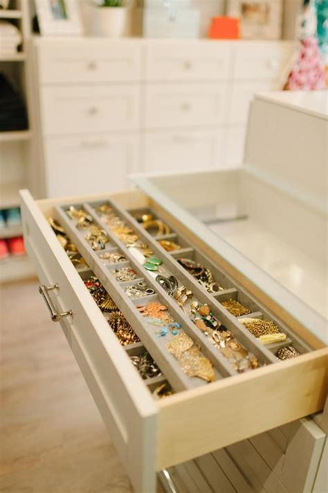 How To Store Jewelry In A Drawer by Glass Top Closet Island With Jewelry Drawers