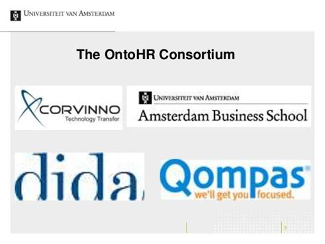 Consortium Mba Statistics by Ontohr On The Fifth Flemish Research Meeting On