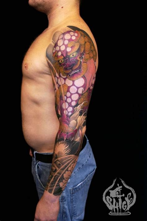 fu dog shige yellow blaze tattoo diy pinterest
