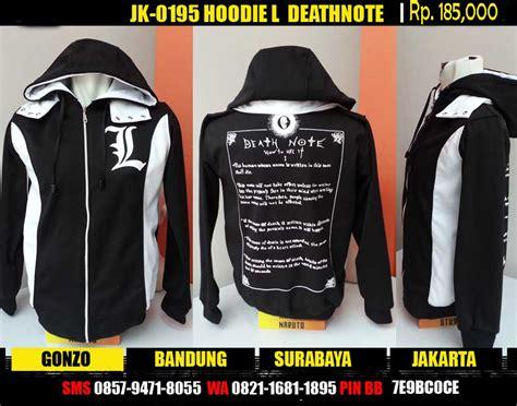 berita jepang gonzo bandung jual jaket hoodie l deathnote