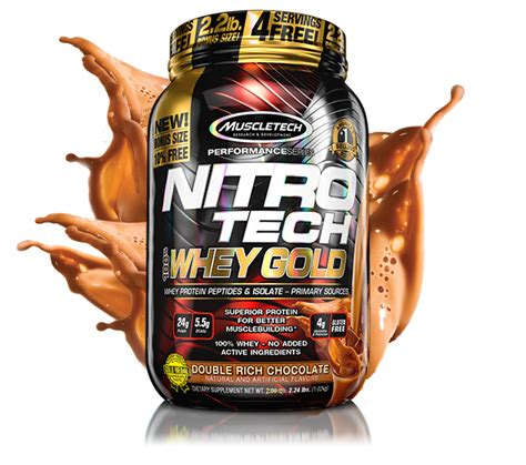 Nitrotech Nitro Tech Whey Gold 6lbs 6 Lbs Muscletech Tech nitro tech 100 whey gold muscletech