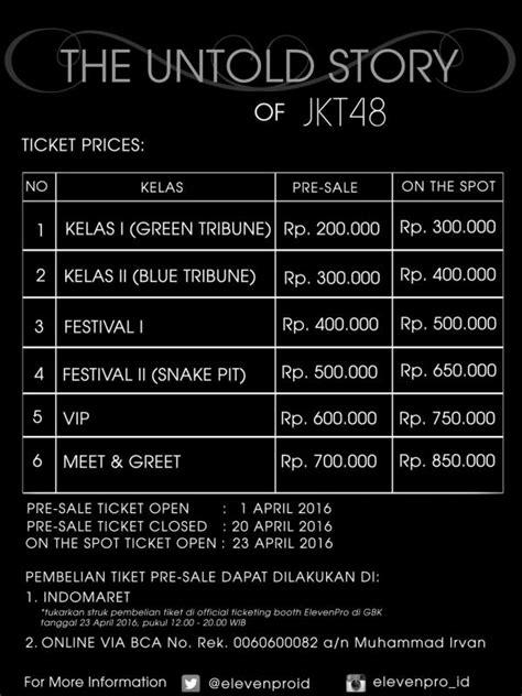 Bung Karno The Untold Stories tiket konser jkt48 tak laku harga turun drastis showbiz