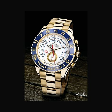 rolex yacht master ii oyster perpetual   jaune