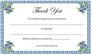 certificate of thanks and appreciation template thank you certificate template free template downloads