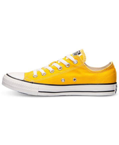 yellow sneakers mens lyst converse s chuck ox casual sneakers from