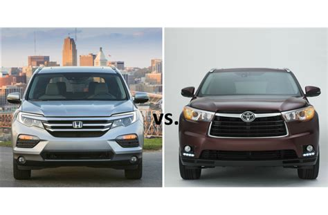 Compare Honda Pilot And Toyota Highlander To Comparison 2016 Honda Pilot Vs 2016 Toyota