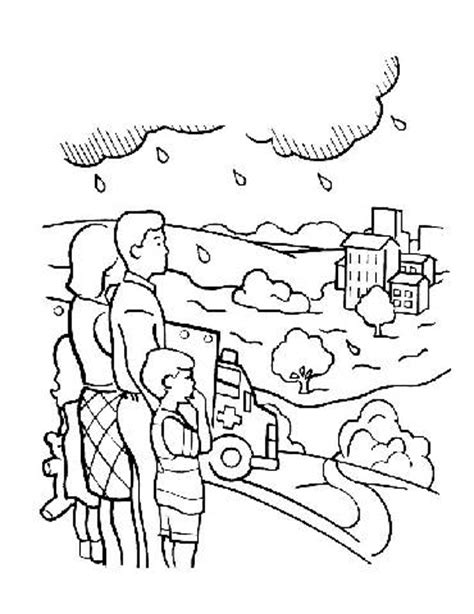 o flood colouring pages