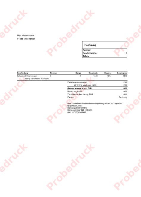 Vorlage Rechnung Zur Ck Rechnungen Erstellen 187 Handbuch Korona Pos