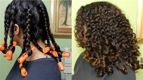 how to create long wavey curls with perm bouncy curls with braids perm rods natural curly hair