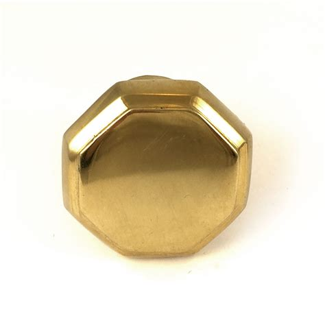 Solid Brass Knob by Gold Hexagon Solid Brass Knob Cabinet Hardware