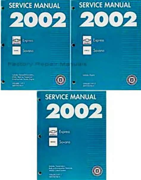 2002 express savana bi fuel repair shop manual supplement 2002 chevy express van gmc savana 1500 2500 3500 factory shop service manual set factory