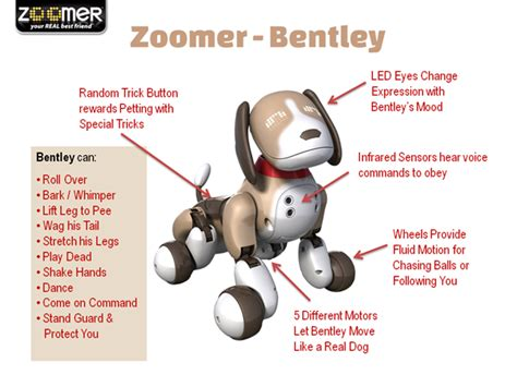 zoomer bentley zoomer interactive robotic dog bentley features