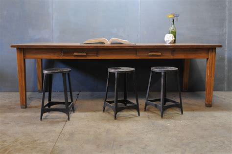 Vintage Library Table by Vintage Monumental Library Table Factory 20