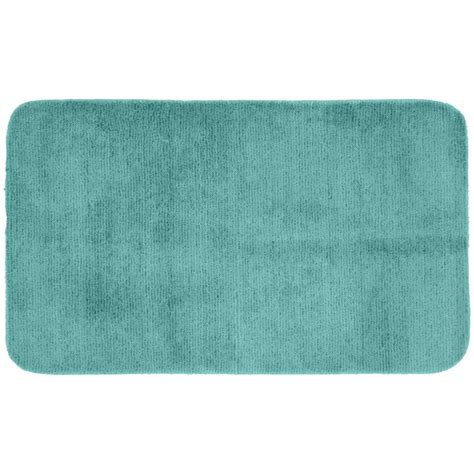30 X 50 Kitchen Rugs Garland Rug Glamor Sea Foam 30 In X 50 In Washable Bathroom Accent Rug Alu 3050 06 The