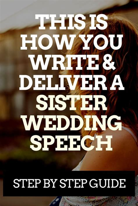 Sister of the Bride? Here's How to Write a Great Speech