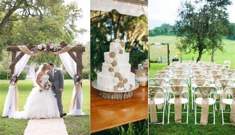 burlap wedding decor ideas burlap inspired country weddin 36 amazing rustic country burlap wedding decor ideas