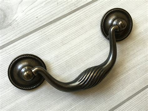 antique bail pulls for dressers 4 quot vintage style drop bail dresser pull drawer handle dark
