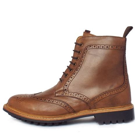 mens high boots uk chatham country york s high ankle brogue boots in