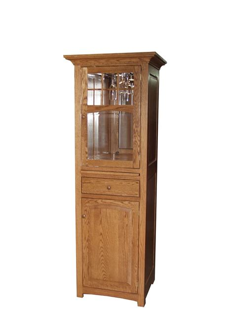 Wine Armoire Cabinet by Four Seasons Furnishings Amish Made Furniture Santa Fe