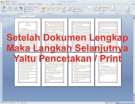 cara membuat jilid novel cara membuat buku lipat atau book fold pada ms office