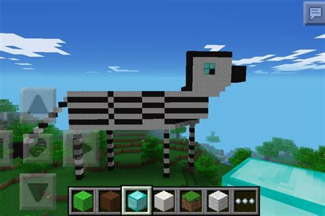 Online Design App minecraft zebra diy
