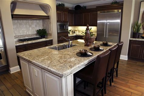 kitchen island with granite granite countertops the top quality element in kitchens