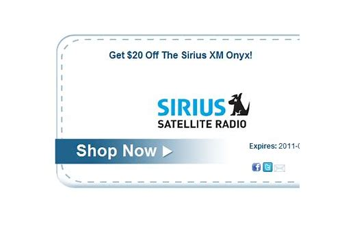 coupons for satellite radio