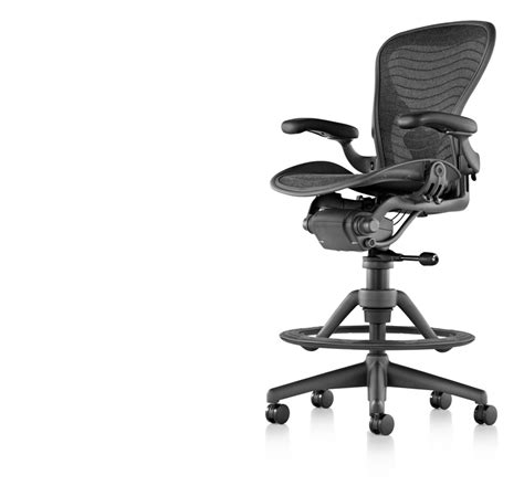 Aeron Work Stool Used by Aeron Stool Herman Miller